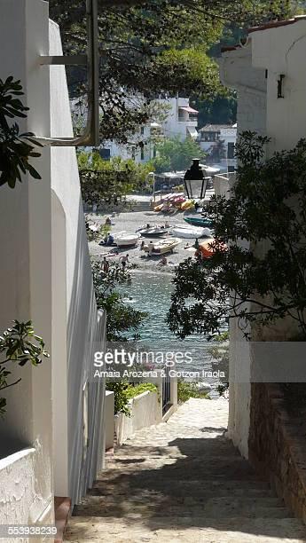 Beautiful alley in Sa Tuna beach
