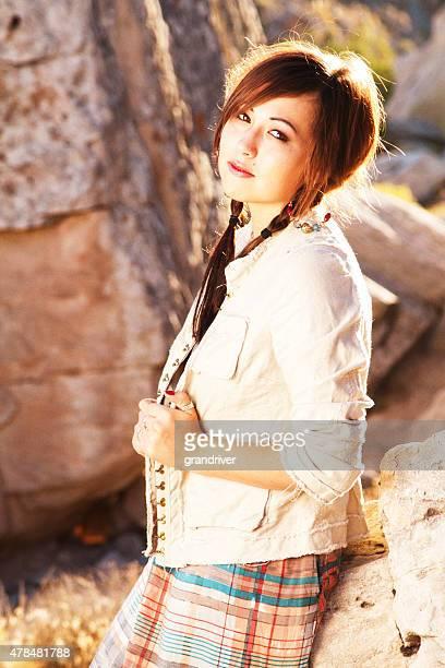 Beautiful American Indian Girl Portrait