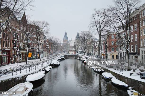 Beautiful Amsterdam during Winter