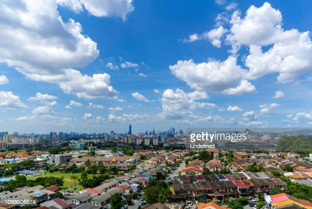 Beautiful and majestic aerial view of downtown Kuala Lumpur