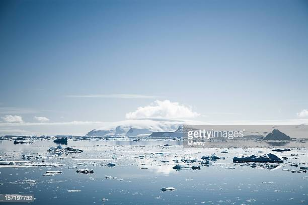 beautiful antarctica landscape - mlenny stock pictures, royalty-free photos & images