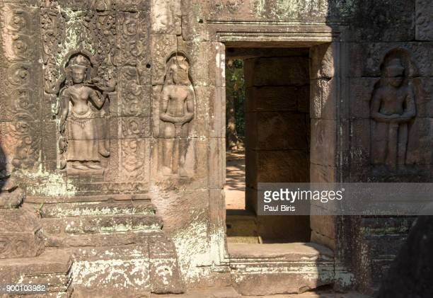 beautiful apsara of ta som temple, angkor wat, siem reap, cambodia - classical mythology character stock photos and pictures