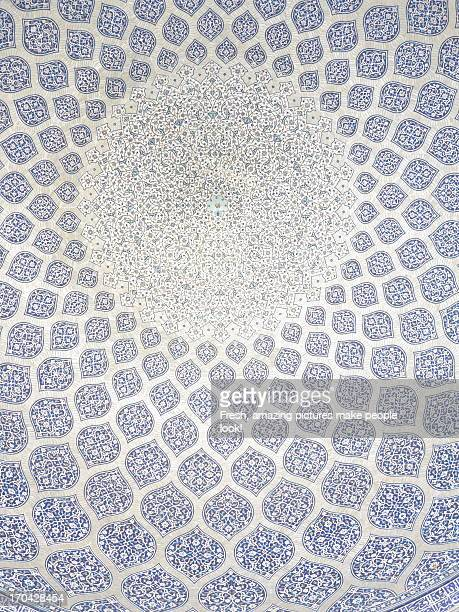 Beautiful architectural detail in mosque, Iran