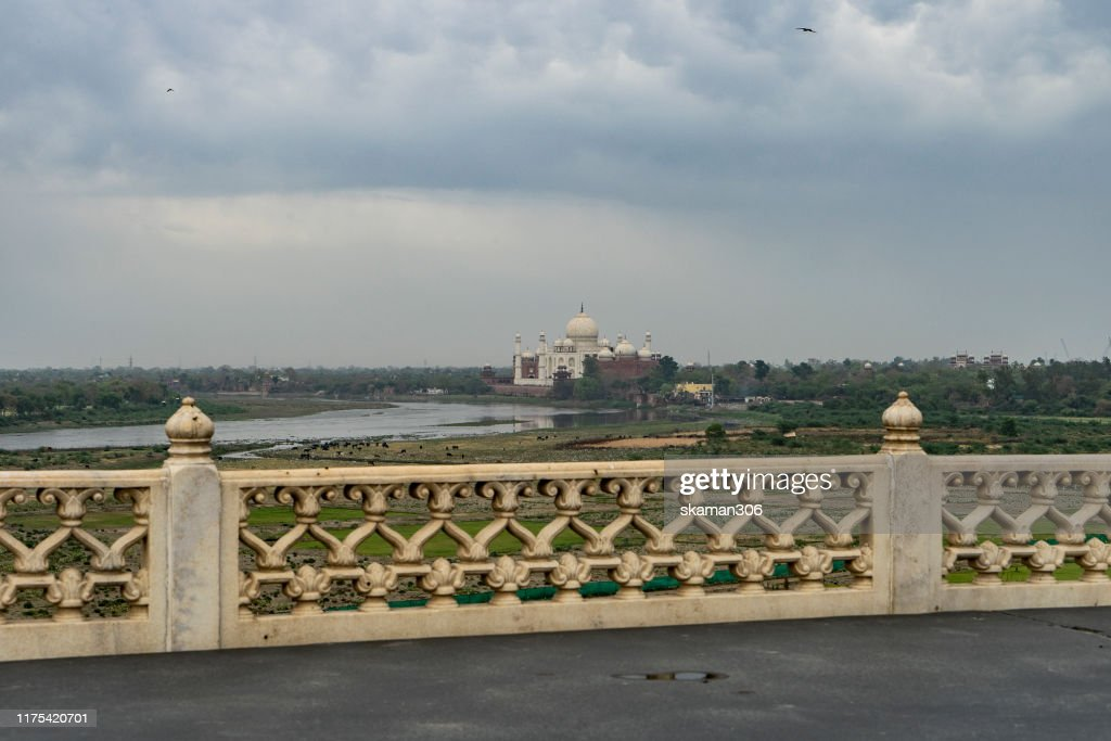 beautiful architecture  agra fort mughal empire at agra fort near agra india : Stock Photo