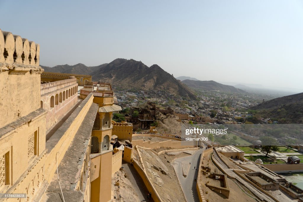 beautiful architecture  Amber fort and mughal empire at jaipur  rajasthan india : Stockfoto