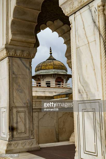 beautiful architecture  mughal empire at agra fort near agra india - agra jama masjid mosque stock pictures, royalty-free photos & images