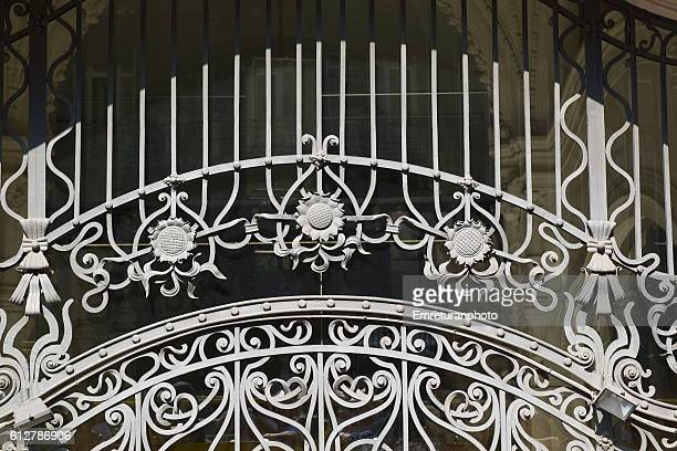 beautiful art deco iron work in budapest - emreturanphoto stock pictures, royalty-free photos & images