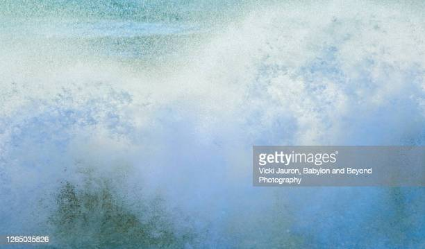 beautiful art of spray and splash of wave crashing at jones beach, long island - wantagh stock pictures, royalty-free photos & images