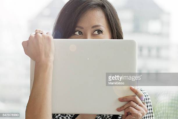 beautiful asian business lady - mamigibbs stock photos and pictures