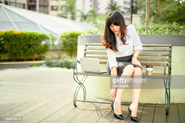 beautiful asian businesswoman , in jakarta indonesia - pump dress shoe stock pictures, royalty-free photos & images