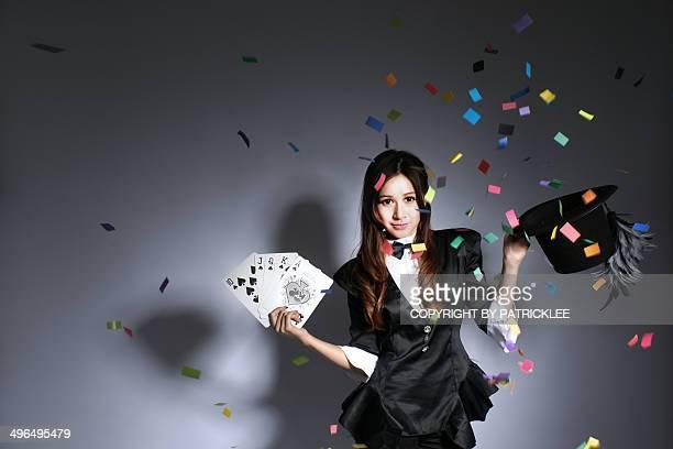 Beautiful Asian Poker Magician