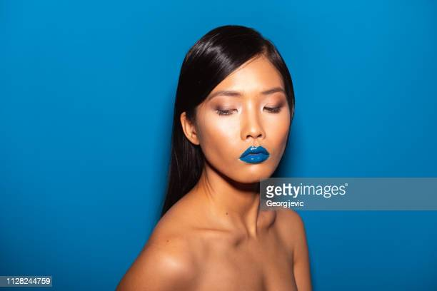beautiful asian woman - stage make up stock pictures, royalty-free photos & images