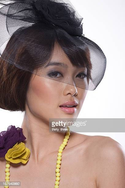 beautiful asian young model portrait