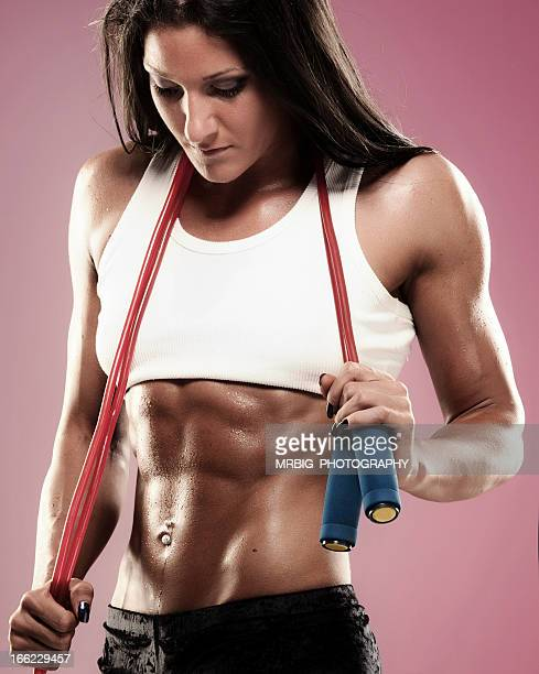 beautiful athletic woman - body piercings stock photos and pictures