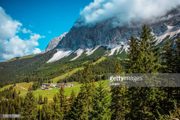 beautiful austrian countryside landscape view - romantic sky stock pictures, royalty-free photos & images