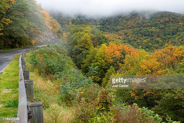 blue ridge parkway autumn - asheville stock pictures, royalty-free photos & images