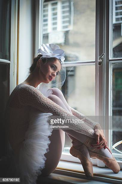 Beautiful balerina posing for camera