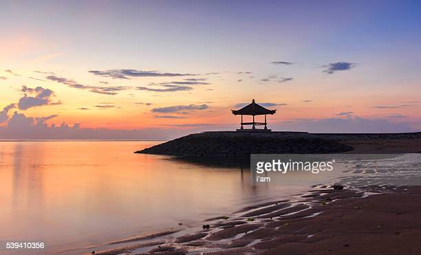 A Beautiful Balinese Pagoda on the beach at Sanur, Bali, Indonesia