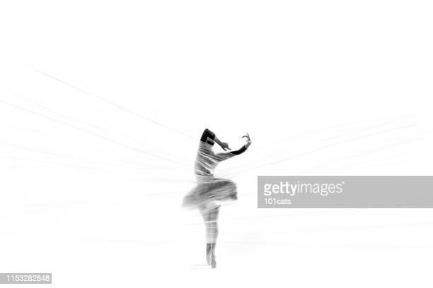 belle ballerine dansant le ballet classique derrière le nylon mince - corps humain photos photos et images de collection