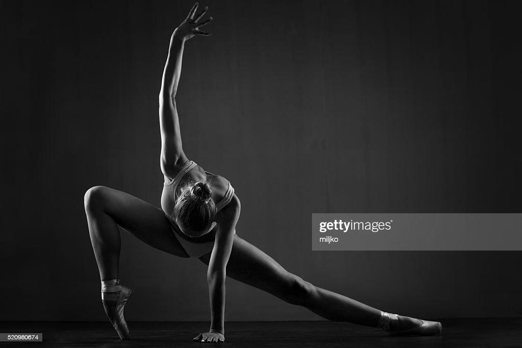 Beautiful ballerina exercises : Stock Photo