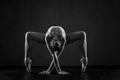 Beautiful ballerina exercises