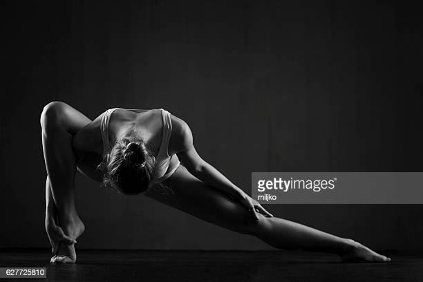 Beautiful ballerina exercises