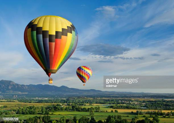 beautiful balloons - hot air balloon stock pictures, royalty-free photos & images