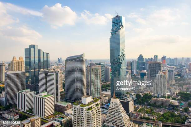 Beautiful Bangkok view Mahanakhon is the new highest building in Bangkok Thailand