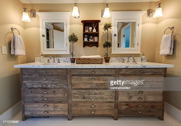 beautiful bathroom - rustic stock pictures, royalty-free photos & images