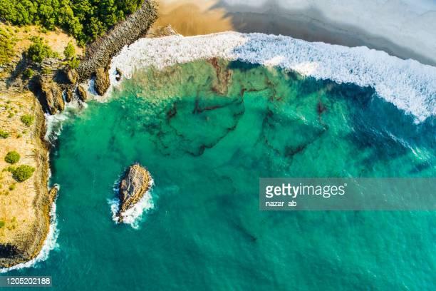 美しいビーチの背景。 - 持続可能な開発目標 ストックフォトと画像