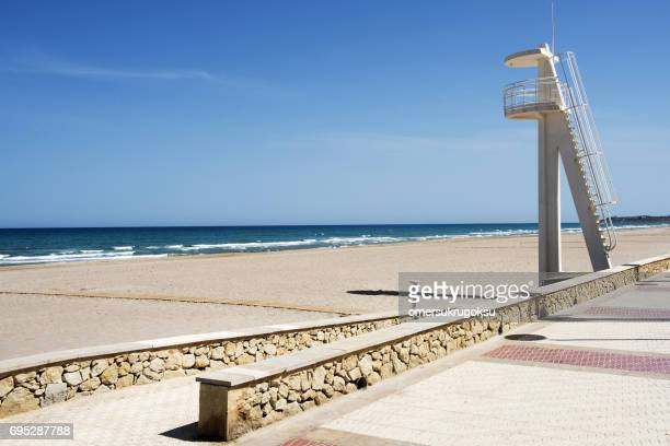 beautiful beach in alicante, spain - altea stock photos and pictures