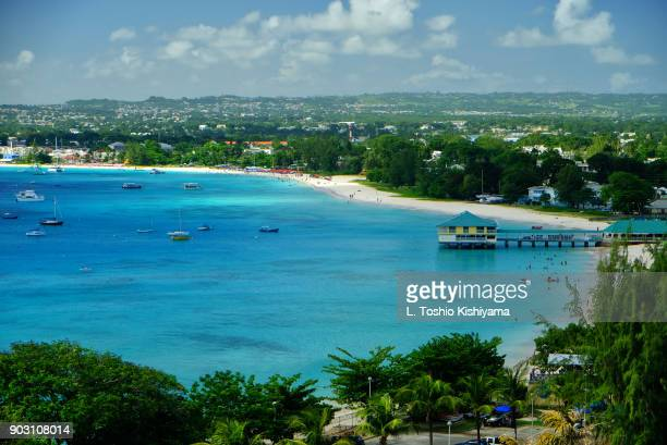 beautiful beach in barbados - bridgetown barbados stock photos and pictures