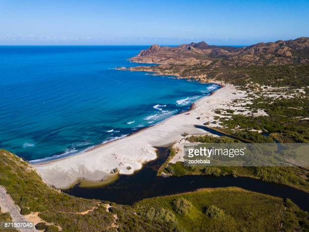 Beautiful Beach in Corsica, Ostriconi strand