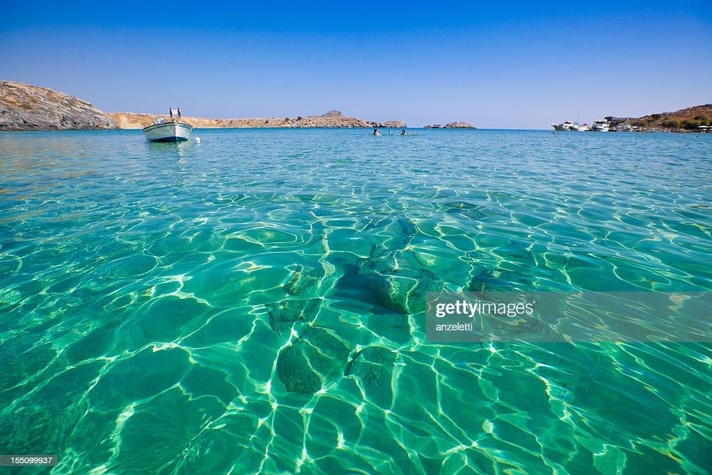 Beautiful beach in Greece : Stock Photo