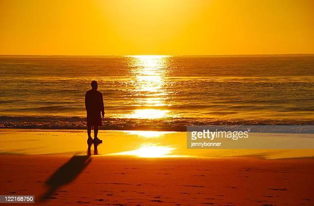 Wunderschönen Sonnenuntergang am Strand