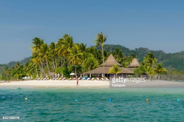 Beautiful beaches and islands of Andaman sea at Trang province, Thailand.
