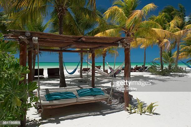 Beautiful beachfront on Holbox Island, Mexico