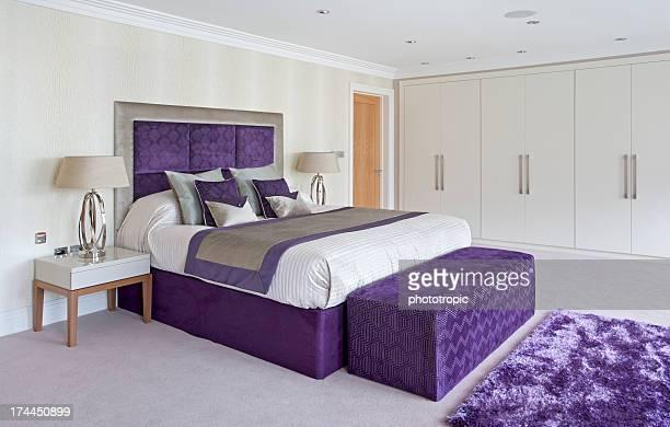 beautiful bed in purple