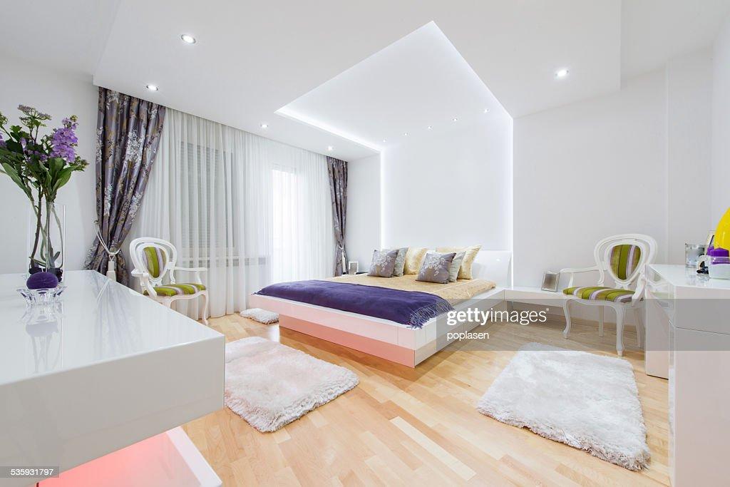 beautiful bedroom interior : Stock Photo
