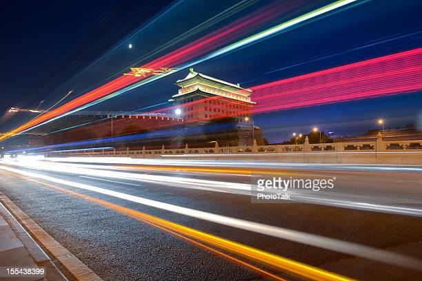 La hermosa ciudad de Pekín de noche-XXXXXLarge escena