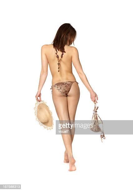 beautiful bikini woman - topless bikini models stock pictures, royalty-free photos & images