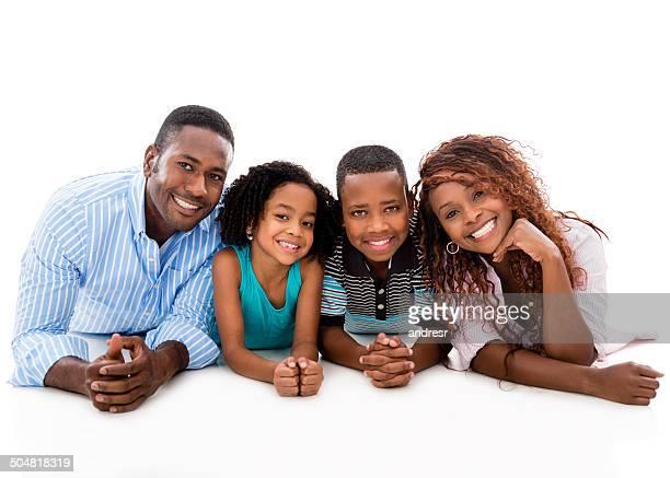 Beautiful black family