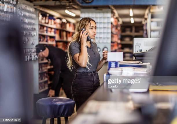 Beautiful black female professional mechanic