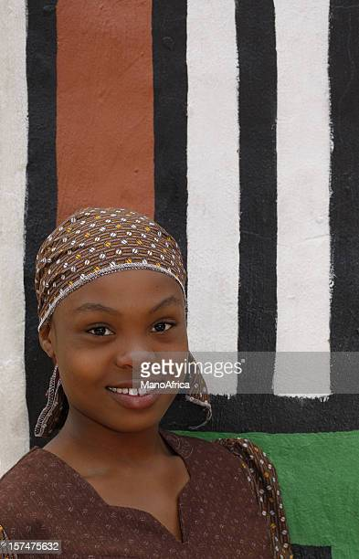 beautiful black girl - native african girls stock photos and pictures