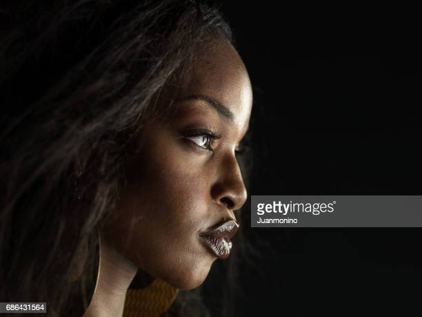 beautiful black woman profile