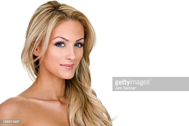 hermosa mujer rubia - mujer rubia desnuda fotografías e imágenes de stock