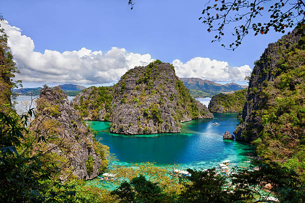 Beautiful Blue Lagoon At Kayangan Lake In The Philippines Wall Art