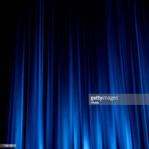 Beautiful Blue Stage Curtain