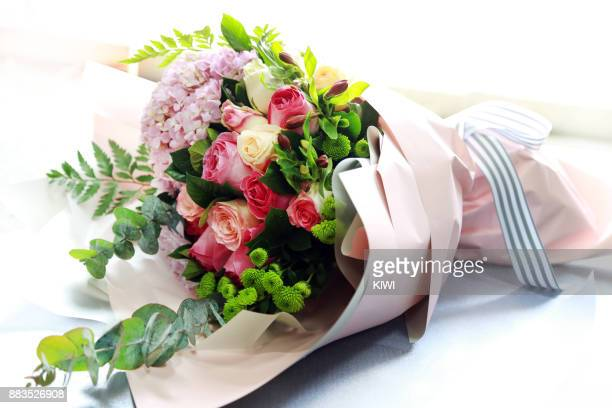a beautiful bouquet of flowers - bunch stock pictures, royalty-free photos & images