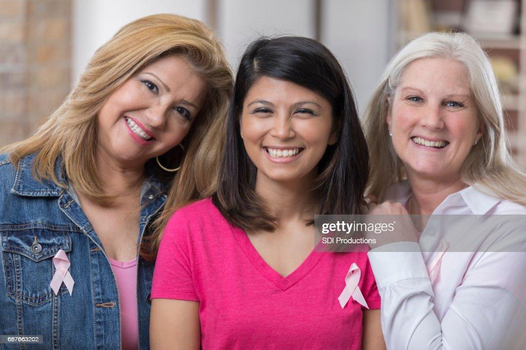 Beautiful breast cancer survivors : Stock Photo